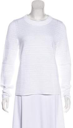 Chloé Open Knit Crew Neck Sweater