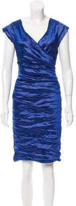 Nicole Miller Sleeveless Ruched Dress w/ Tags $85 thestylecure.com