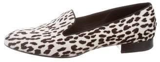Saint Laurent Ponyhair Animal Print Loafers