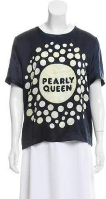 Jenny Packham Silk Graphic Print Top w/ Tags
