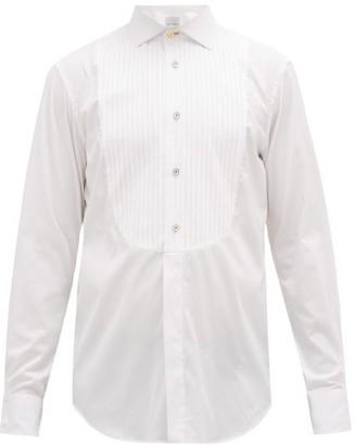 Paul Smith Pleated Bib Cotton Evening Shirt - Mens - White