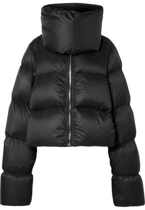 Rick Owens Quilted Shell Down Jacket - Black