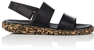 Barneys New York Men's Leather Double-Strap Sandals