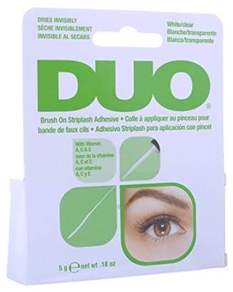 Duo Brush-On Striplash Adhesive White/Clear 0.18 Ounce (5.3ml) (2 Pack)