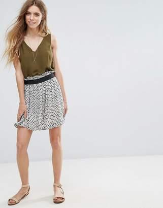 Ganni Miku Georgette Elastic Waist Skirt