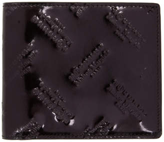 Maison Margiela Black All Over Logo Wallet
