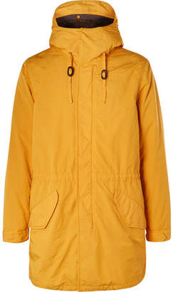 Aspesi Faux Shearling-Lined Shell Hooded Parka - Yellow