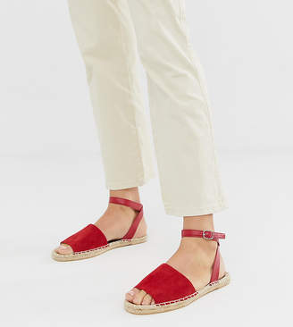 South Beach Exclusive red ankle strap espadrilles