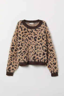 H&M Pattern-knit Sweater - Beige