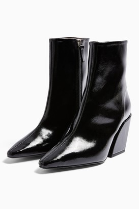 Topshop VALENCIA Vegan Black Western Boots