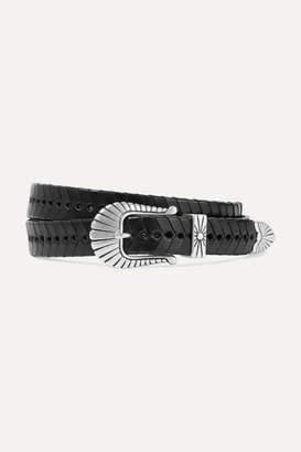 Isabel Marant Jigoo Woven Leather Belt - Black