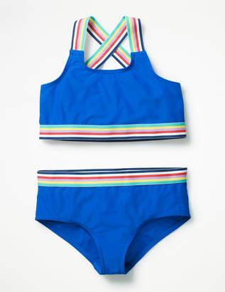 Boden Stripe Detail Bikini Set