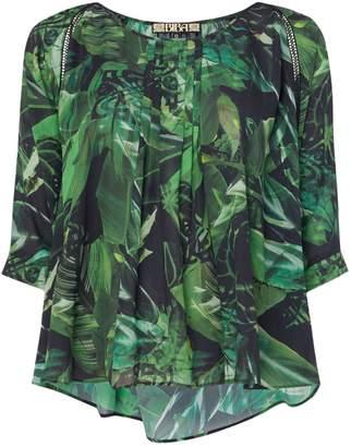 Biba Jungle printed volume blouse