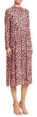 Rag & Bone Leopard-Print Velvet Burnout Midi Dress