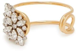 Burberry Daisy Crystal Embellished Cuff - Womens - Gold
