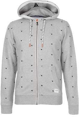 Soul Cal SoulCal Mens Deluxe AOP Zip Jacket Hoodie Coat Top Hoody Hooded Long Sleeve Full