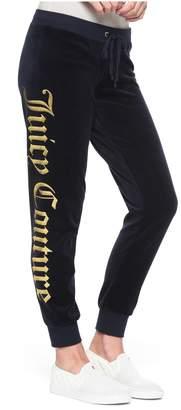 Juicy Couture Juicy Mirror Emblem Velour Zuma Pant