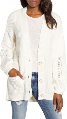 Caslon Cable Knit Sleeve Cardigan