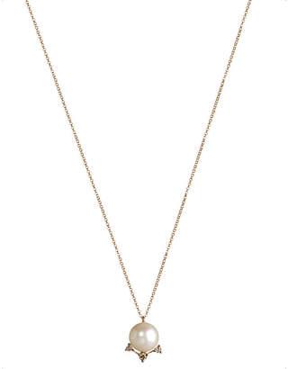 Rosegold Annoushka Diamonds & Pearls 18ct rose-gold pendant