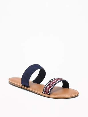 Old Navy Faux-Suede/Braided Double-Strap Sandals for Women