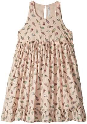 Stella McCartney Pip Sleeveless All Over Ice Cream Print Dress Girl's Dress