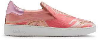 Mulberry Jump Slip On Sneaker Pink Marble Print