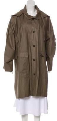 eskandar Oversize Hooded Rain Coat