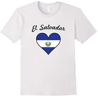 El Salvadorian Flag Heart El Salvador Love T-Shirt