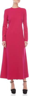 Derek Lam Fuschia Long Sleeve Maxi Dress