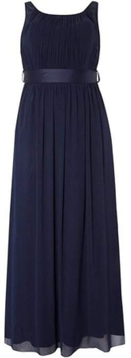 Womens **Showcase Curve Navy 'Natalie' Maxi Dress