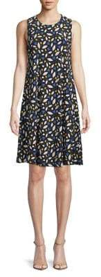 Anne Klein Sleeveless Printed A-Line Dress