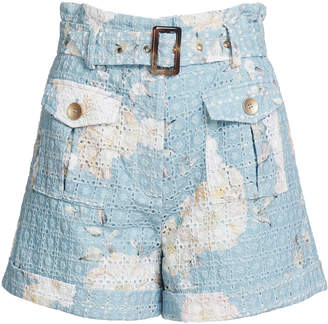 Lulu We Are Kindred Broderie Anglaise Cotton Shorts