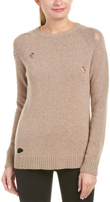 Anine Bing Distressed Wool-Blend Sweater