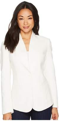 Pendleton Collarless One-Button Blazer Women's Jacket