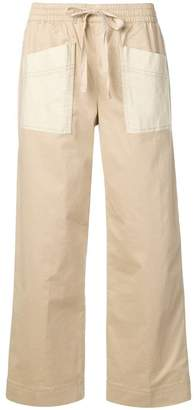 Tory Burch twill cargo trousers