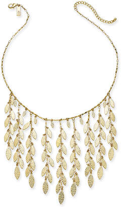 "INC International Concepts I.n.c. Gold-Tone Shaky Leaf Statement Necklace, 19"" + 3"" extender"