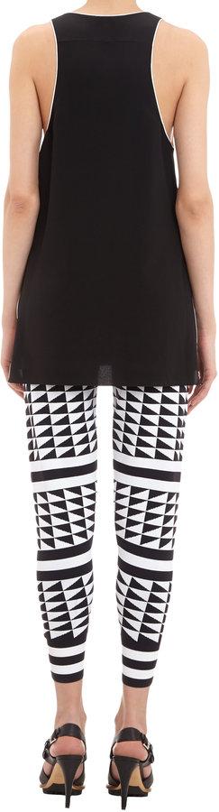 Edun Triangle and Chevron Intarsia-knit Pants