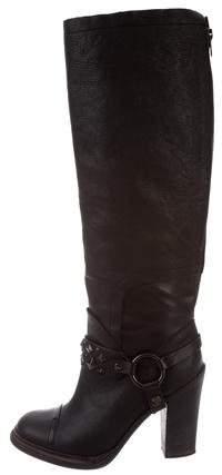 Vera Wang Studded Knee-High Boots