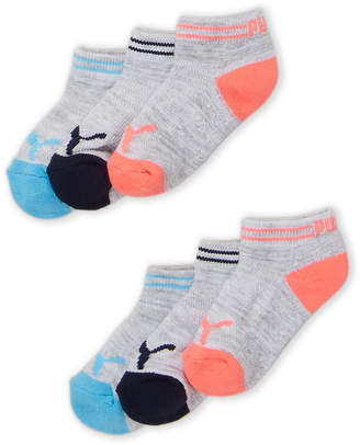 Puma Toddler Girls) 6-Pack Cushioned Low Cut Socks