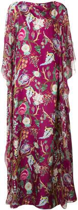 Alberta Ferretti flared floral gown