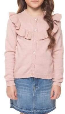 Dex Little Girl's Ruffle Cardigan