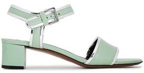 Marni Metallic-trimmed Leather Sandals