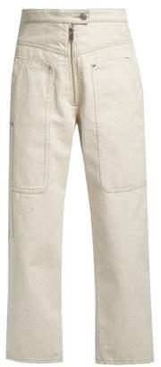 Isabel Marant Paden high-waisted wide-leg jeans