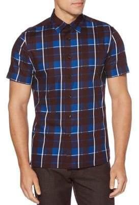 Perry Ellis Plaid Button-Down Shirt
