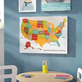 Viv + Rae Jorden Wood Grain US Map Canvas Art