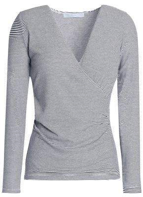 Kain Label Rose Wrap-Effect Stretch-Modal Jersey Top