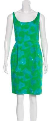 Chris Benz Printed Sleeveless Dress
