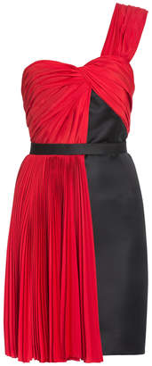 Jason Wu One Shoulder Half Pleat Skirt Dress