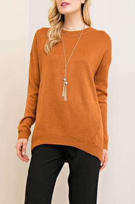Entro Lace Up Back Sweater
