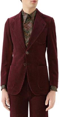 Gucci Men's Single-Breasted Velvet Jacket